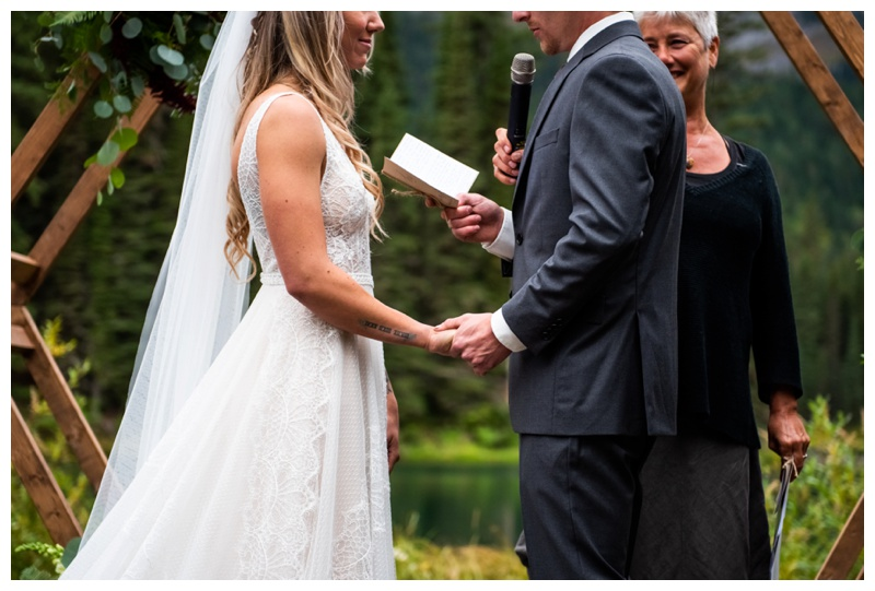 Island Lake Lodge Wedding Ceremony Photographer Fernie