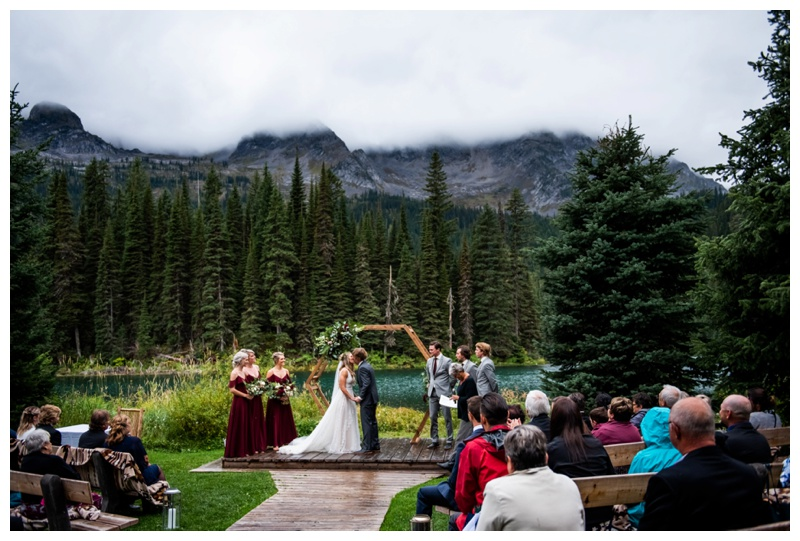 Island Lake Lodge Wedding Ceremony Photographers Fernie