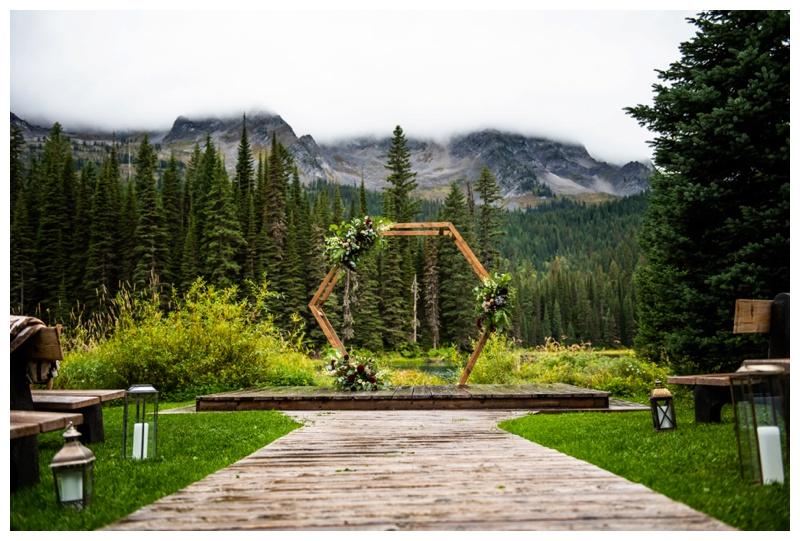 Island Lake Lodge Wedding Ceremony Photos
