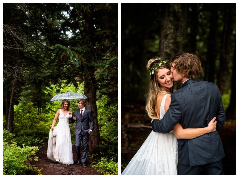 Island Lake Lodge Wedding Fernie BC- Bride & Groom Photography