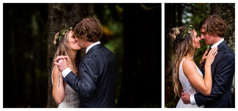 Island Lake Lodge Wedding Fernie - Bride & Groom Photography