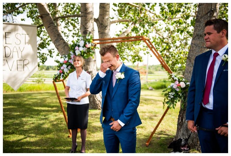 Wedding Ceremony Dewinton Community Hall - Calgary Photographer