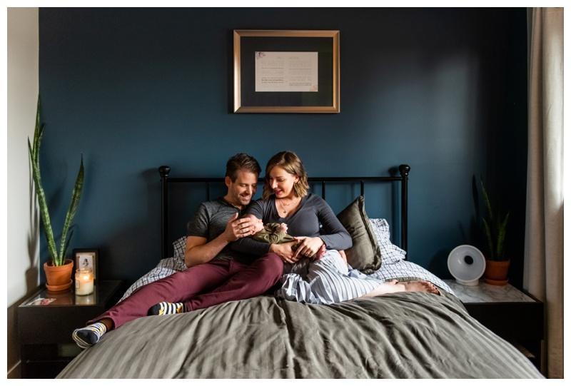 In Home Newborn Photo Session Calgary Alberta