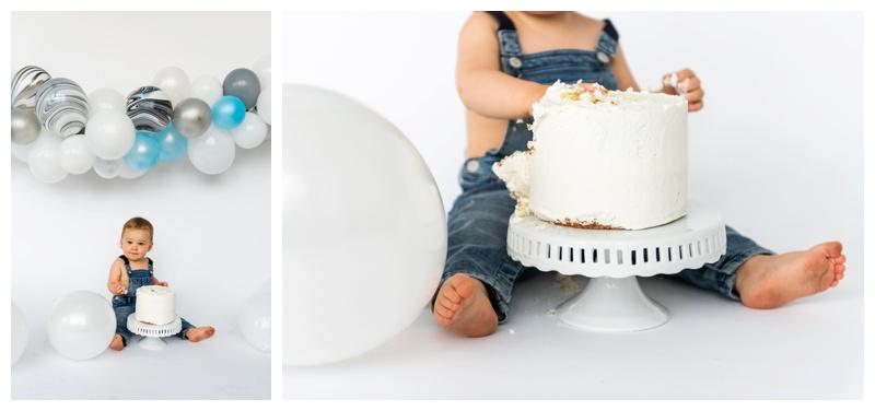 Calgary First Birthday Cake Smash Photography