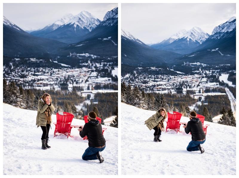 Banff Lookout Winter Proposal Photos