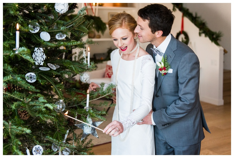 Scandinavian inspired winter wedding shoot styled Calgary