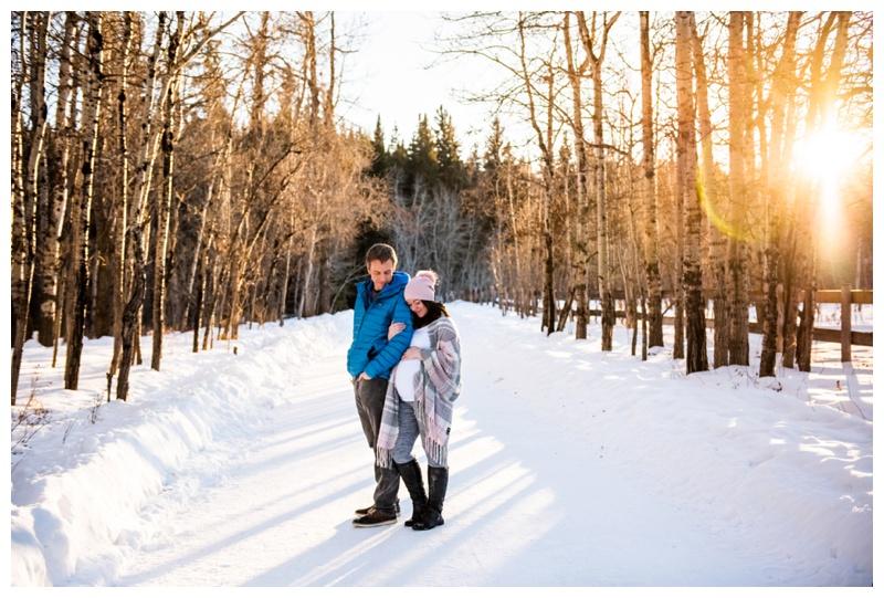 Calgary Photographer - Winter Maternity Session Calgary.