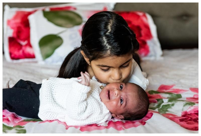 Calgary Winter In Home Newborn Photography