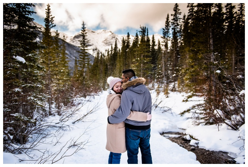 Canmore Winter Couple Photography