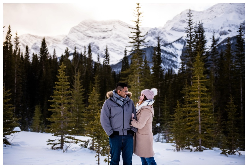 Kananaskis Winter Couple Photographer