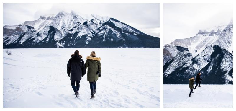 Lake Minniwanka Proposal Photographer