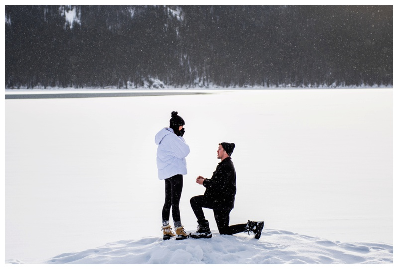 Rocky Mountain Wedding Proposal Photos