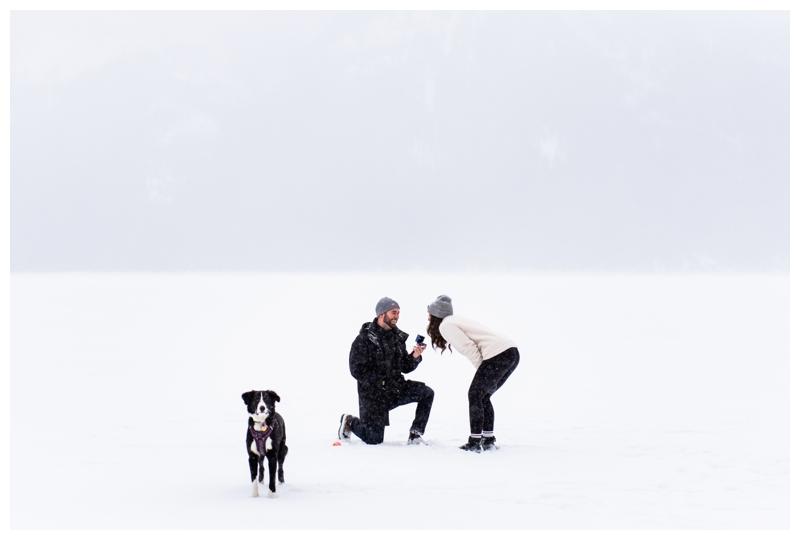 Rocky Mountain Winter Wedding Proposal Photos