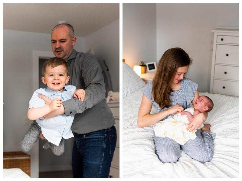 Calgary At Home Family Newborn Photographer