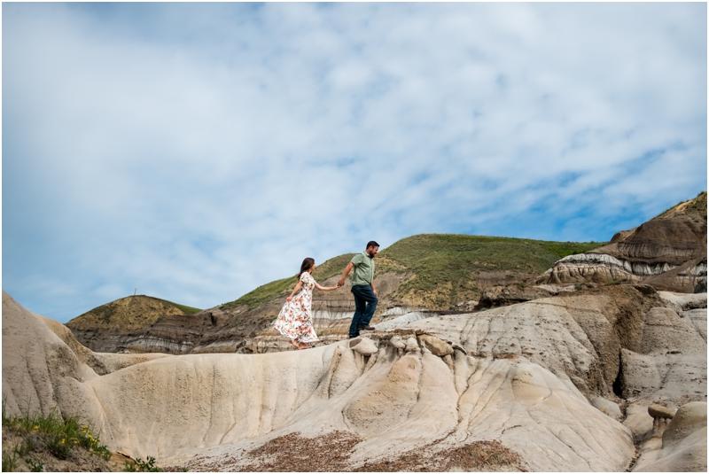 Engagement Photography Drumheller Badlands