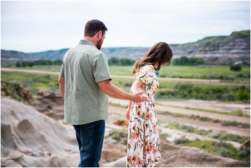 Engagement Photos Drumheller Badlands
