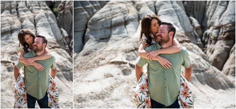 Hoodoo Trail Drumheller Engagement Photographers