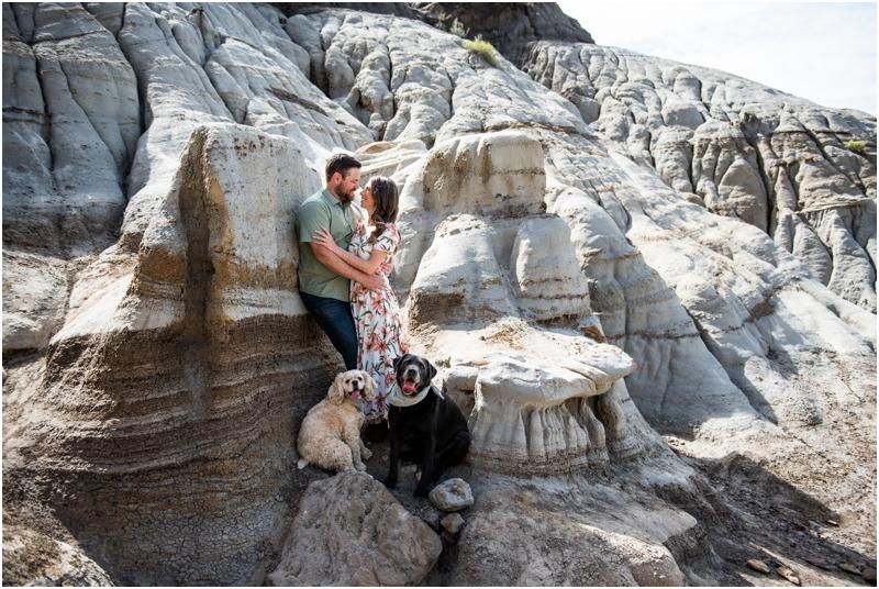 Hoodoo Trail Drumheller Engagement Photos