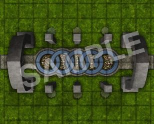 Elven City GameMastery Map Pack Mini Table Games
