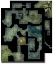 GameMastery Flip-Mat: Haunted Dungeon