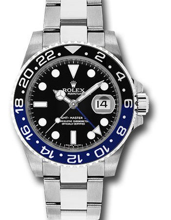 "Rolex GMT-Master II Watch-16710BLNR-Oyster-Perpetual-Date-""Batman""-Full-Set RM48,000"