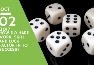 How do hard work, skill, and luck factor in to success?