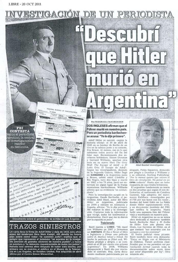 Hitler en Argentina? Pirata inglés roba descaradamente investigaciones  locales | Pájaro Rojo