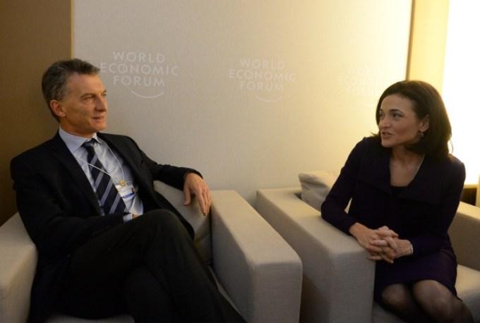 Con Sheryl Sandberg en Davos