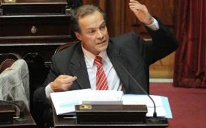 Télam Buenos Aires 25/04/2012 El senador, Ruben Giustiniani,durante el debate en el senado por el proyecto de ley que prevé la expropiación del 51% de las acciones de la petrolera Repsol-YPF. Foto: Fernando Sturla/Télam/cf