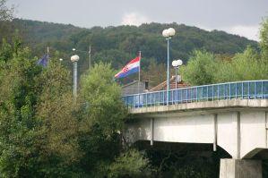 Sitting in Bosnia, looking into Croatia