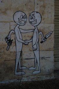 Graffiti on the israel side of Hebron