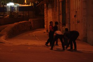Kids are playing in Hebron