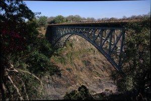 Gränsen mellan Zambia och Zimbabwe