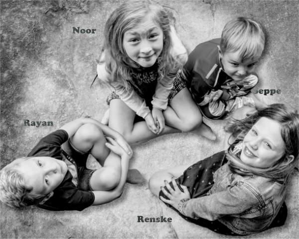 een foto van mijn broer Rayan, mijn nicht Renske en mijn neefje Seppe