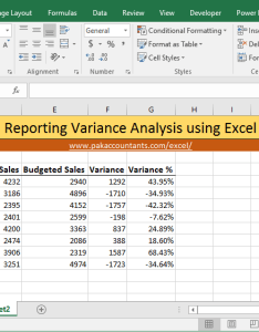 Excel variance report methods also ways to make charts how pakaccountants rh