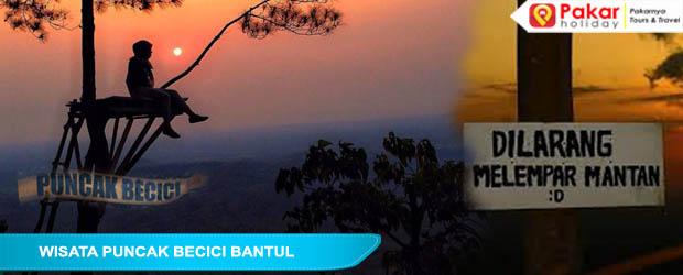 Wisata Puncak Becici Bantul Menjadi Tempat Wisata Yang Sedang Hits Bagi Kalangan Anak Muda Zaman Now, Tempat Asyik Dan Viral Menikmati Sunset Di Jogja.