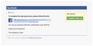 Klik link untuk konfirmasi pendaftaran facebook  Cara membuat akun Facebook Klik link untuk konfirmasi pendaftaran facebook