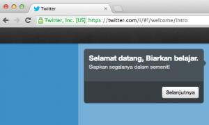 Twitter halaman intro