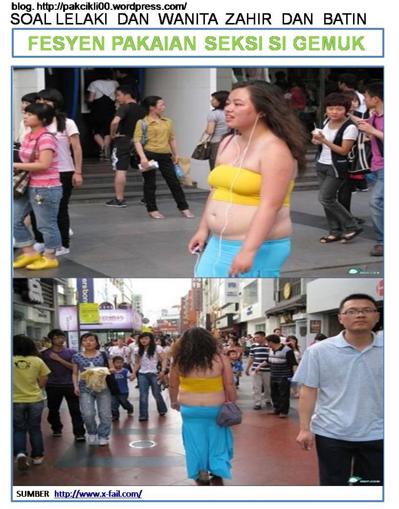 fesyen pakaian seksi si gemuk