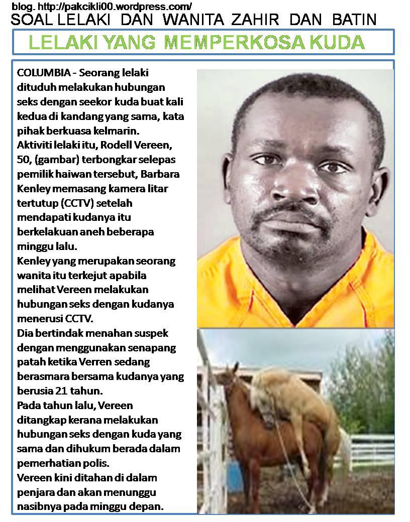 lelaki yang memperkosa kuda