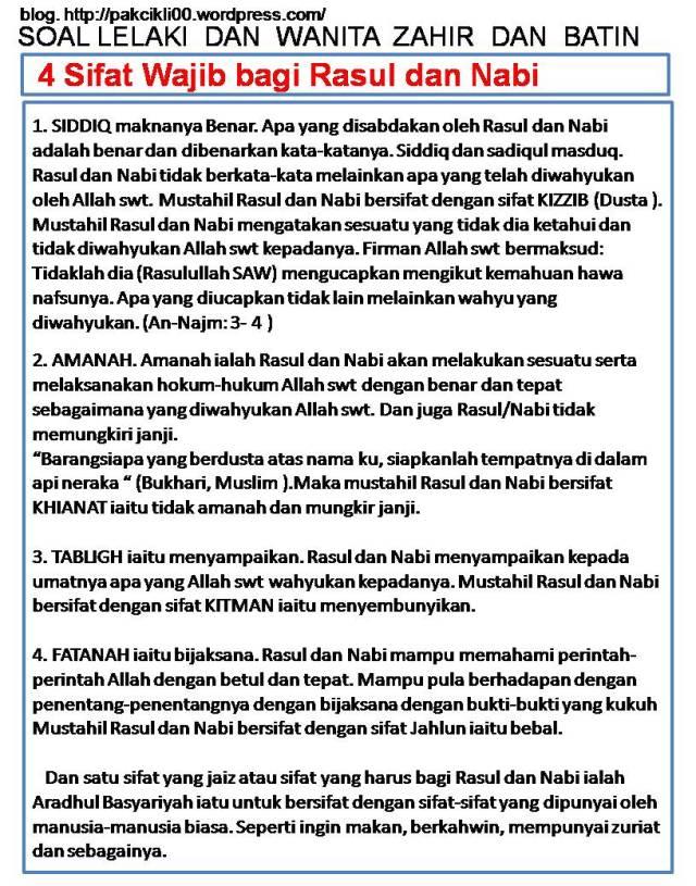 4 Sifat Wajib Rasul : sifat, wajib, rasul, Sifat, Wajib, Rasul, Pakcikli00