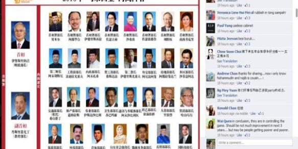 Baca komen mereka (20 komen pertama) mengenai kabinet Malaysia. Mereka sesuka hati menghina UMNO (parti orang melayu)