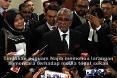 Tindakan peguam Najib memohon larangan sementara terhadap media tepat sekali