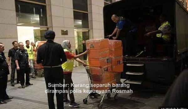 Sumber: Kurang separuh barang dirampas oleh polis dibawah rejim PH kepunyaan Rosmah