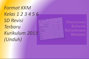 Format KKM Kelas 1 2 3 4 5 6 SD Revisi Terbaru Kurikulum 2013 (Unduh)