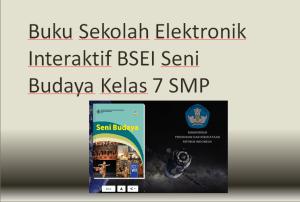 Buku Sekolah Elektronik Interaktif BSEI Seni Budaya Kelas 7 SMP