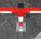 Korkeus x leveys : 600 x 650 mm, paino 7.2 kg.