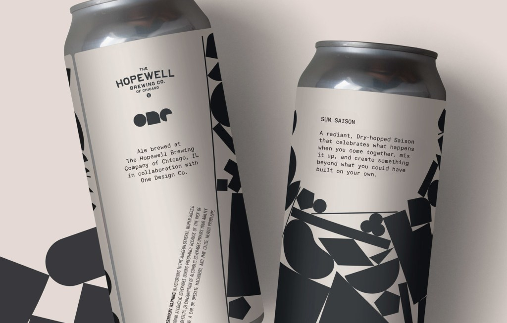Hopewell product packaging featuring monospaced typeface