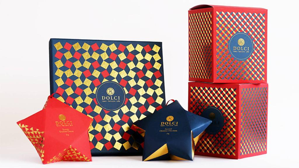 colorful christmas packaging