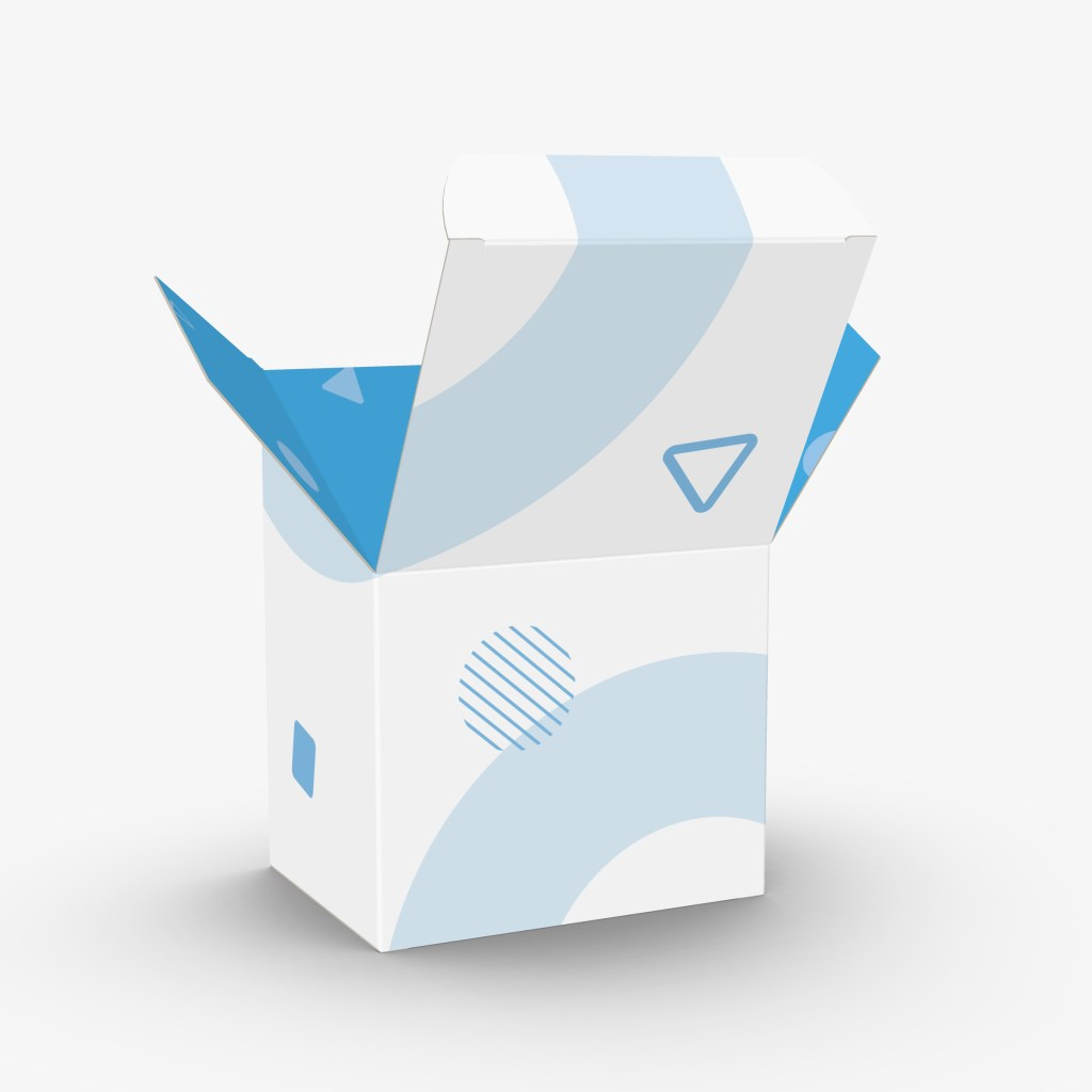Example of vector image for packaging mock ups